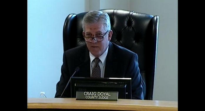 Best wishes to County Judge Craig Doyal for a swift recovery