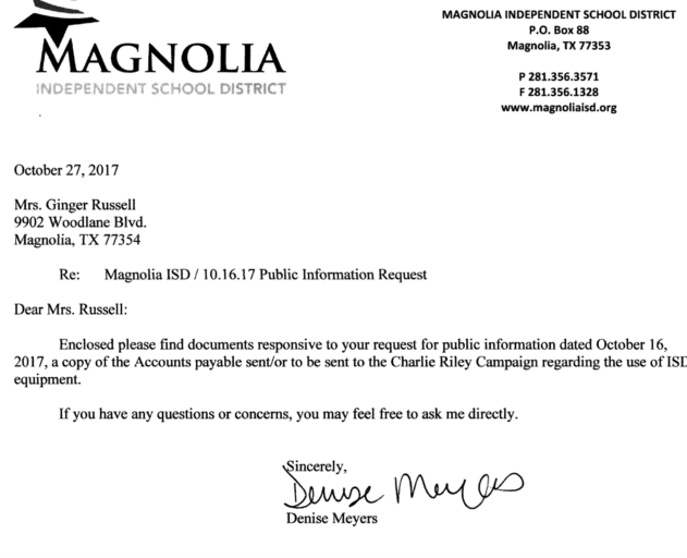 """Montgomery County Government """"For Sale"""", Part 7: Magnolia ISD pretends to lease its trucks to Commissioner Charlie Riley for his personal use, thinks citizens stupid enough to believe"""