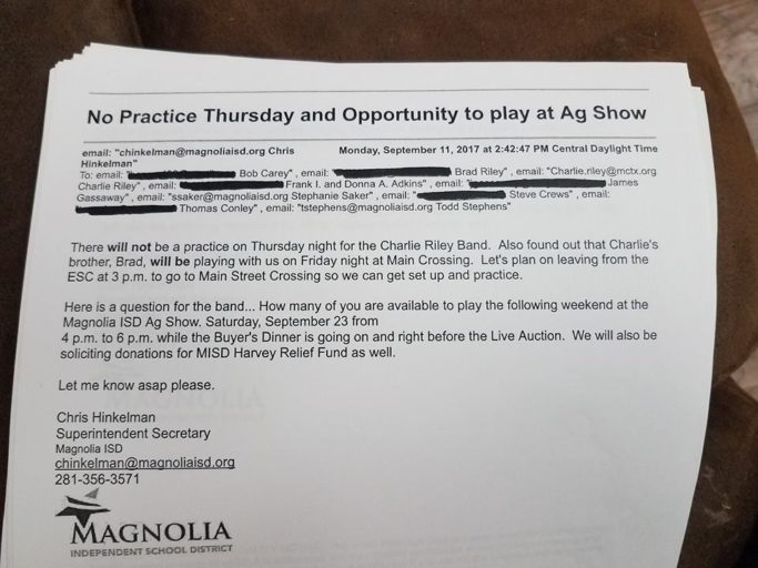"Republican leader Russell calls out Magnolia ISD for ""illegal"" activity, political involvement with Riley Band"