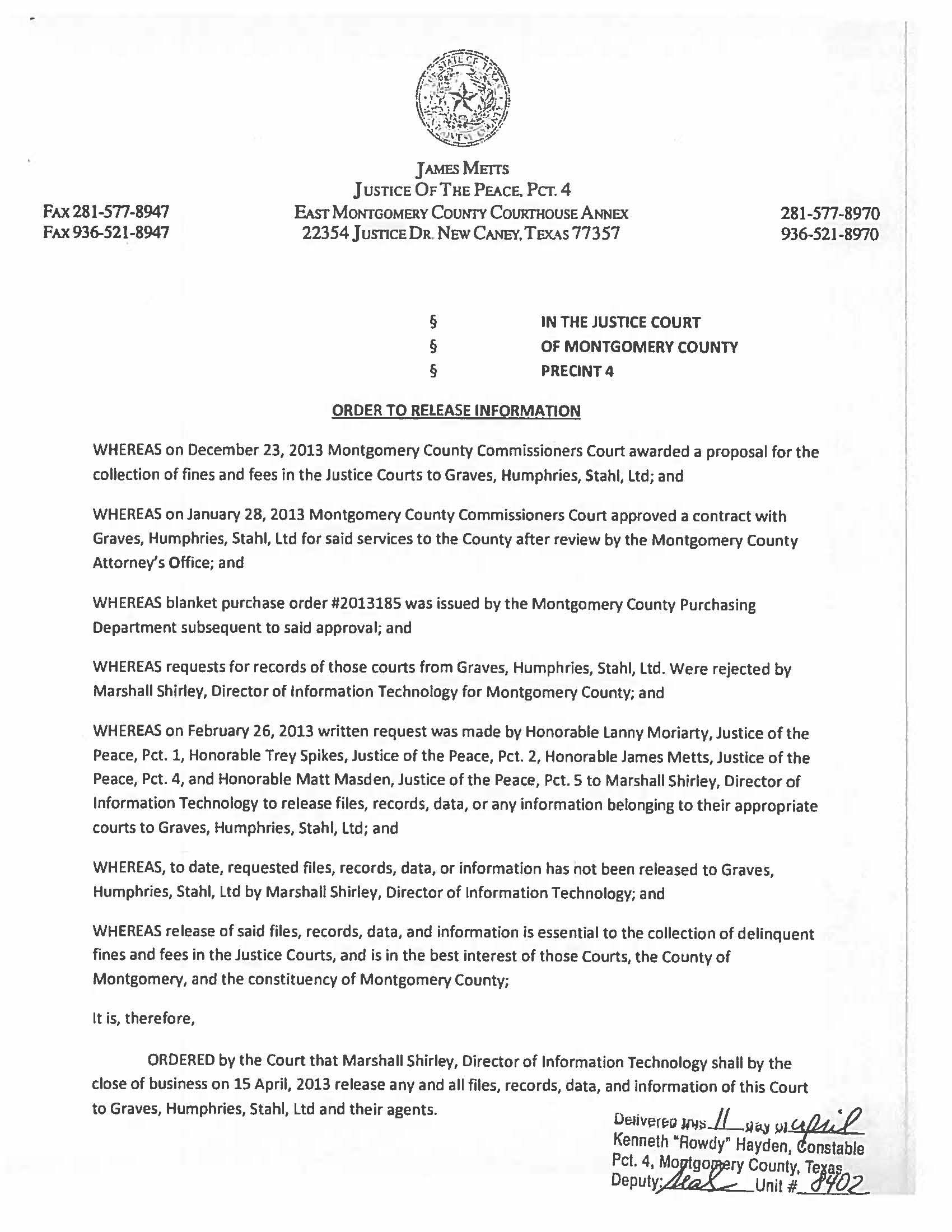 Picture of Corruption: Judge Metts files lawsuit where Montgomery