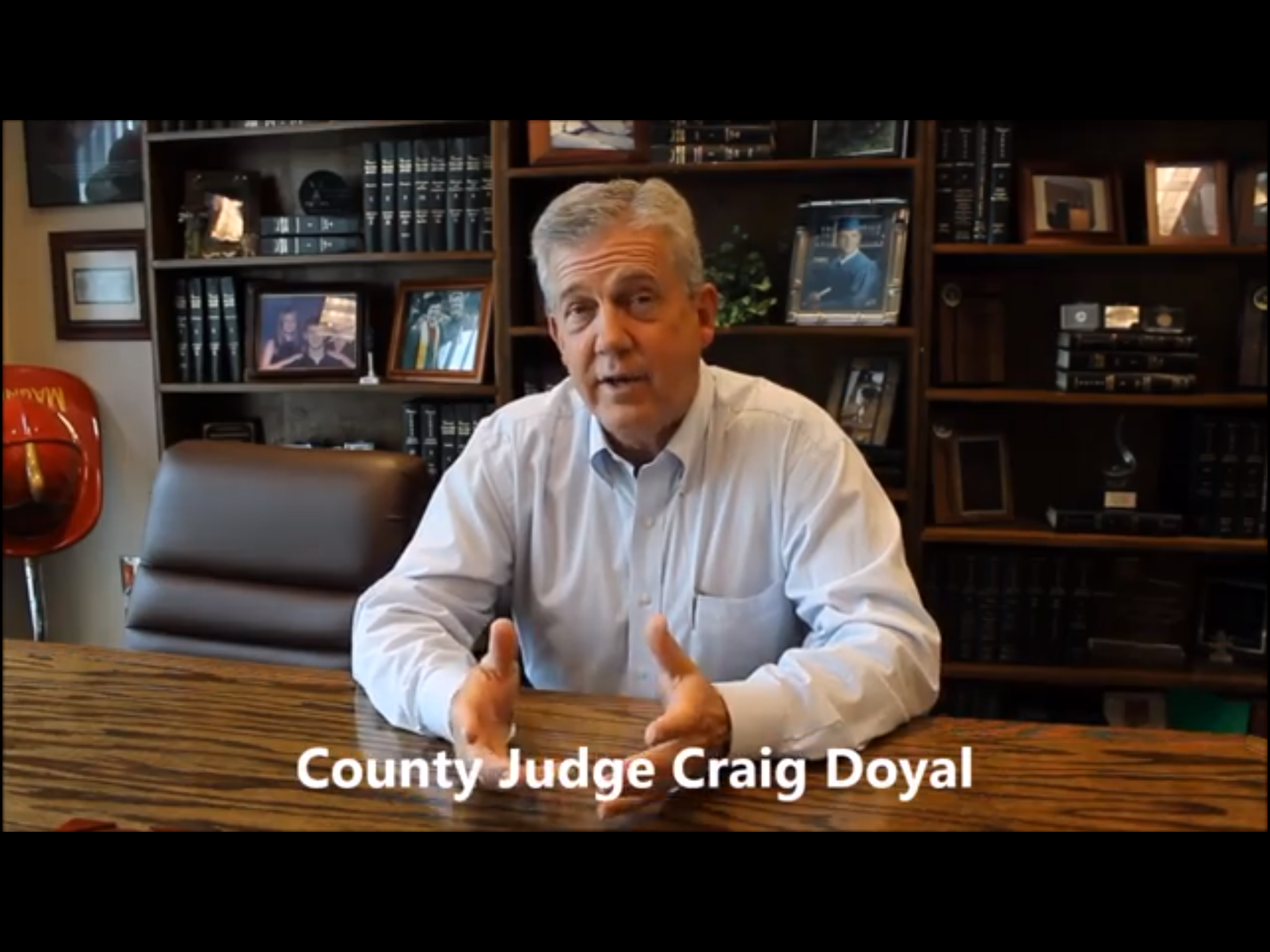 Doyal campaign ad violates Texas Election Code, state ethics guidelines, County Code of Ethics, constitutes Class A misdemeanor