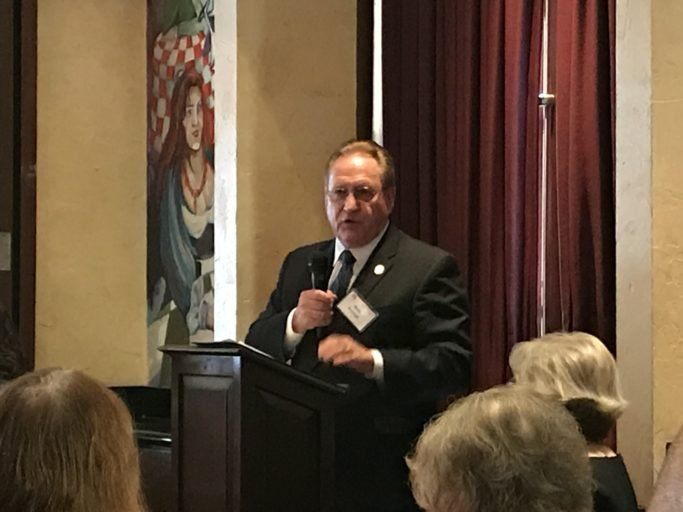 "Mark Keough: ""Tollroads…that's not the purpose of government"": moving speech stirs Woodlands Republican Women"