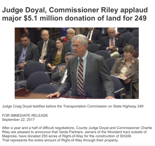 BREAKING NEWS! Doyal, Riley issue disgusting Tx-249 propaganda glorifying their own corruption, major contributor to their criminal legal defense fund