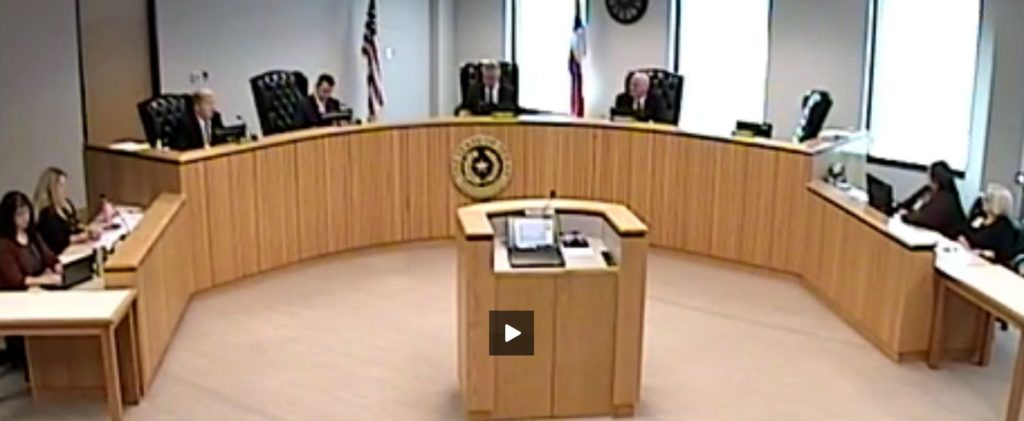 Fragile Tx-249 Tollway corruption stalls during Montgomery County Commissioners Court while Meador goes to the bathroom
