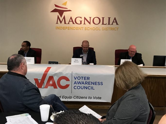 Riley abruptly terminates candidate forum when Magnolia Chamber moderator asks about Woodlands Parkway Extension