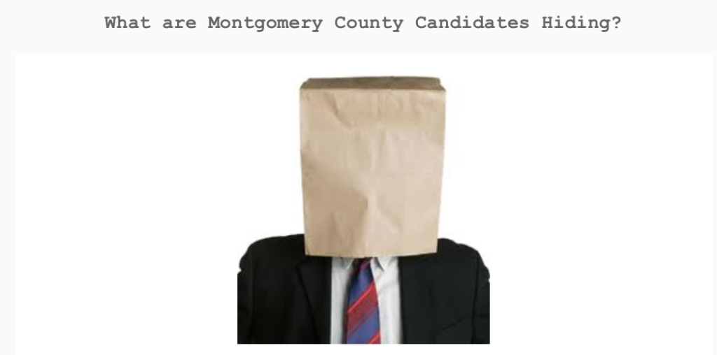 Doyal, Riley, Metts hide from answering basic questions regarding Montgomery County government spending