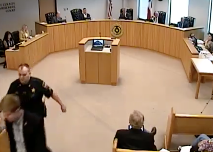 MONTGOMERY COUNTY JUDGE DOYAL THROWS OUT CITIZEN REED TO PREVENT HIM FROM SPEAKING AGAINST TOLLROAD, ENLISTS MCSO SERGEANT JORDAN TO HELP HIM VIOLATE 42 USC SECTION 1983