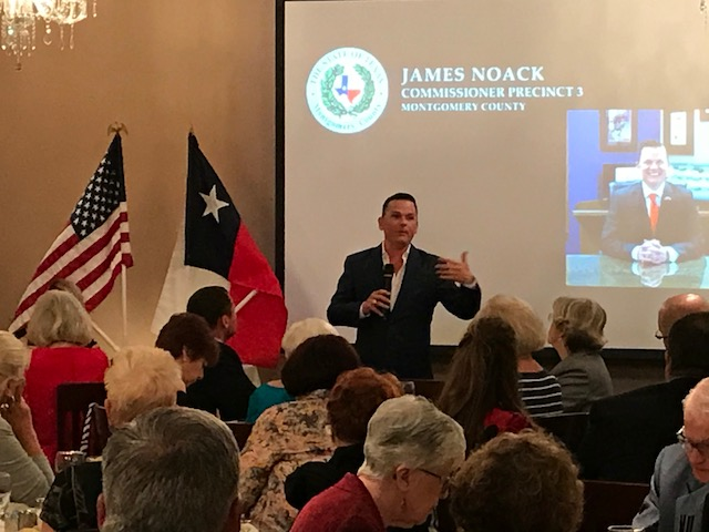 Montgomery County Commissioner Noack gives rousing speech to Woodlands Republican Women, endorses entire slate of Republican candidates, even including Riley