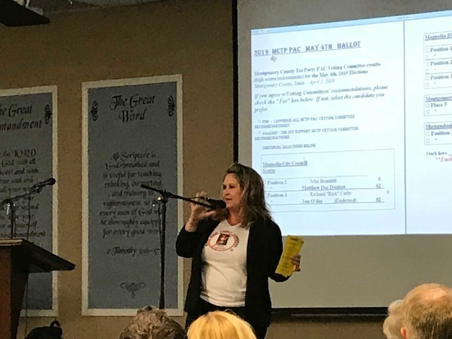 "Montgomery County Tea Party urges ""NO"" vote on Conroe ISD's $807 million bond package, after hearing full presentations on both sides of issue"
