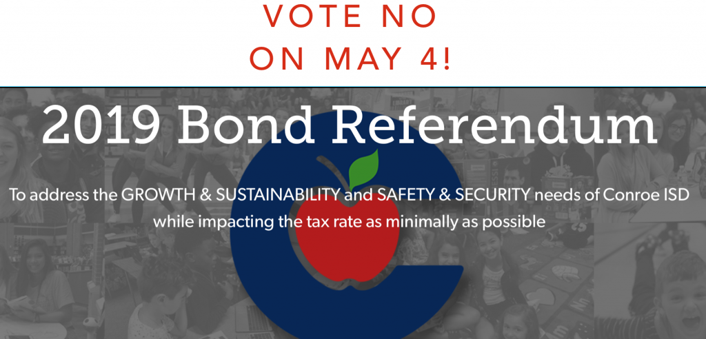"""The Golden Hammer urges Conroe ISD voters to vote """"NO"""" on the $807 million bond package in May 4 election"""