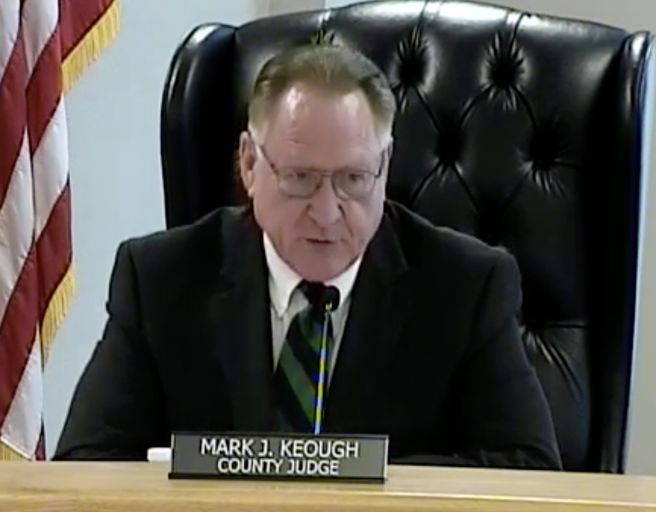 """People's Judge"" Keough tries to remove SH 242 tolls, but Commissioners cling to tax collections with excuses at April 9 meeting, as ratings plummet"