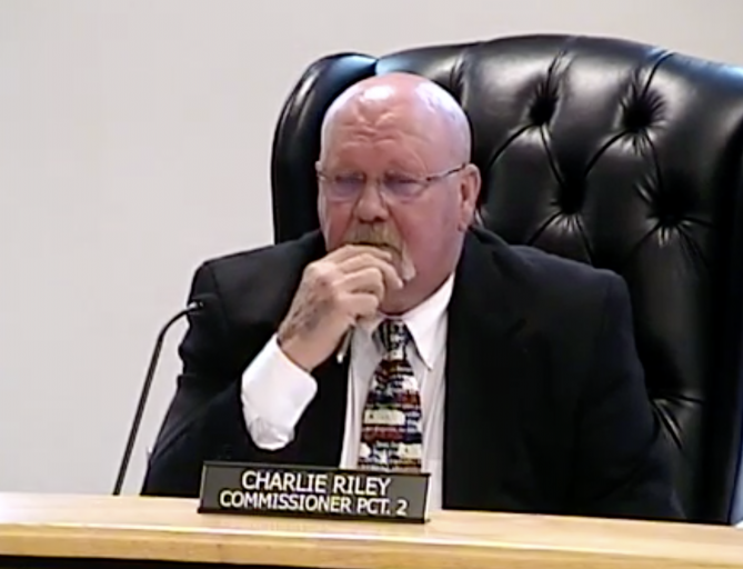 Montgomery County Commissioner Riley's strange behavior during Commissioners Court meeting appears attempt to hide cognitive difficulties