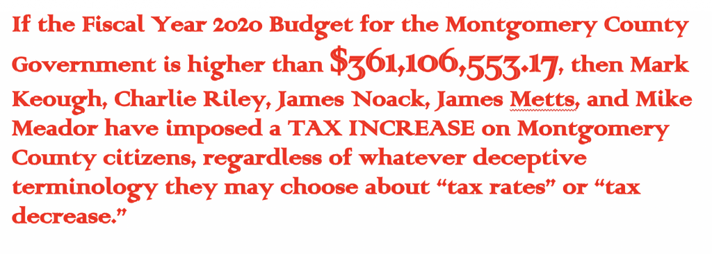 Montgomery County Budget: let's reveal the magic budget number, Keough-Pandey-Carter bring end to Doyal-Martin gamesmanship