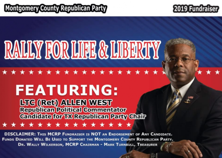 Illegal Montgomery County GOP fundraiser to raise money for unauthorized funds, Bouche, Cook call West out