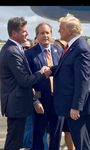 BREAKING NEWS! Senator Creighton meets with President Trump to discuss federal aid after Imelda