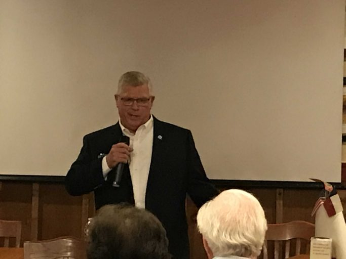 "During first candidate forum of election season, County Commissioner candidate Walker remarks to opponent Graff ""Man, we are on so different pages"""