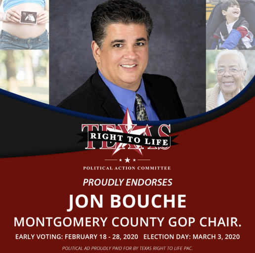 BREAKING NEWS! Montgomery County Tea Party, Texas Right to Life endorse Bouche for Montgomery County Republican Party Chairman