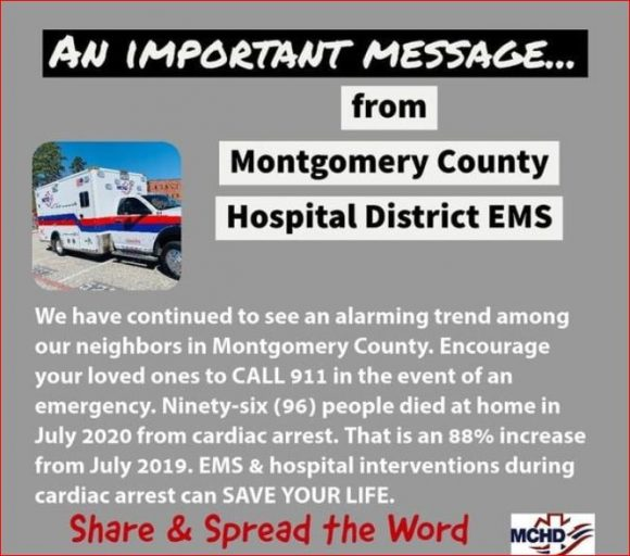 "Montgomery County Hospital District Chair Whatley sends stern message to Texas and America: ""Stop spreading fear"""