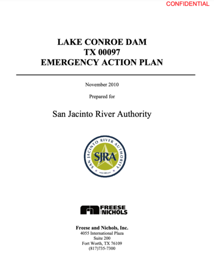 """BREAKING NEWS! San Jacinto River Authority totally failed to plan for flooding, as secret """"Emergency Action Plan"""" reveals"""