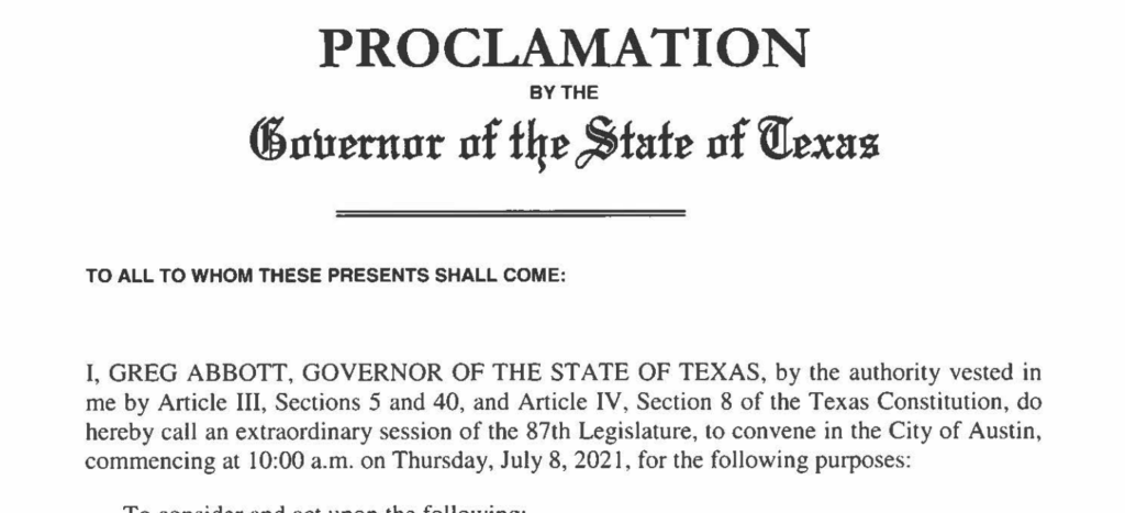 """Governor Abbott's Special Session proclamation on """"critical race theory"""" cuts against legislators' intent, as Toth, Creighton plan otherwise"""