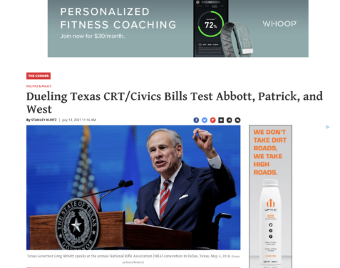 """In """"critical race theory"""" article, National Review cites The Golden Hammer's coverage of Texas Federation of Republican Women hypocrisy"""