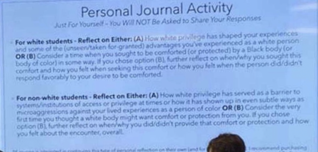 Texas Tech English professor divides white from black students on first day of class to foment racial bitterness
